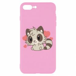Чехол для iPhone 8 Plus Raccoon chibi