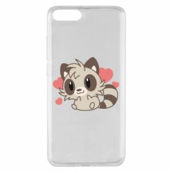 Чехол для Xiaomi Mi Note 3 Raccoon chibi