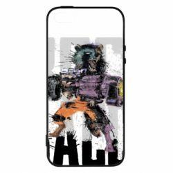 Купить Стражи Галактики, Чехол для iPhone5/5S/SE Raccoon splashes, FatLine