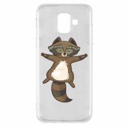Чохол для Samsung A6 2018 Raccoon
