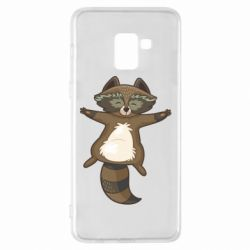 Чохол для Samsung A8+ 2018 Raccoon
