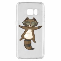 Чохол для Samsung S7 Raccoon