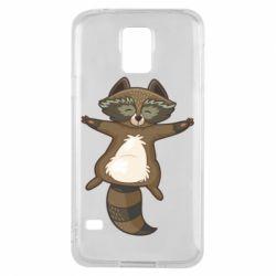 Чохол для Samsung S5 Raccoon