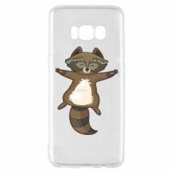 Чохол для Samsung S8 Raccoon