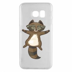 Чехол для Samsung S6 EDGE Raccoon