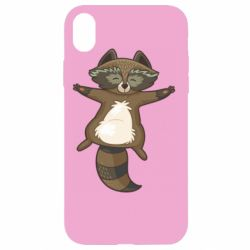 Чехол для iPhone XR Raccoon