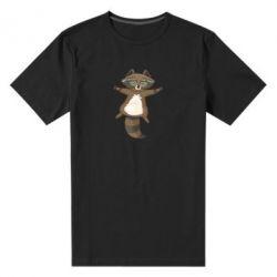 Чоловіча стрейчева футболка Raccoon