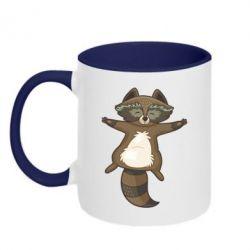 Кружка двоколірна 320ml Raccoon