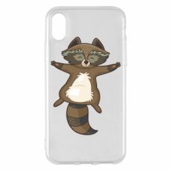 Чехол для iPhone X/Xs Raccoon