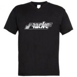 Мужская футболка  с V-образным вырезом Racing - FatLine