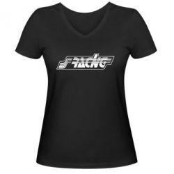 Женская футболка с V-образным вырезом Racing - FatLine