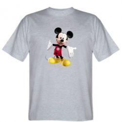 Мужская футболка Радостный Микки Маус - FatLine