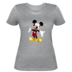 Женская футболка Радостный Микки Маус - FatLine
