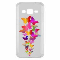 Чохол для Samsung J2 2015 Rainbow butterflies