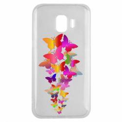 Чохол для Samsung J2 2018 Rainbow butterflies