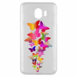Чохол для Samsung J4 Rainbow butterflies