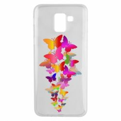 Чохол для Samsung J6 Rainbow butterflies