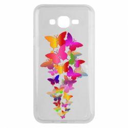 Чохол для Samsung J7 2015 Rainbow butterflies