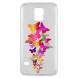 Чохол для Samsung S5 Rainbow butterflies