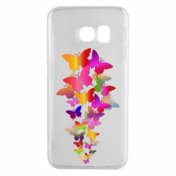 Чохол для Samsung S6 EDGE Rainbow butterflies