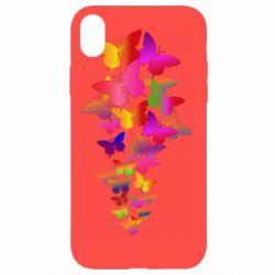 Чохол для iPhone XR Rainbow butterflies