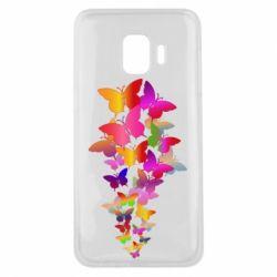 Чохол для Samsung J2 Core Rainbow butterflies