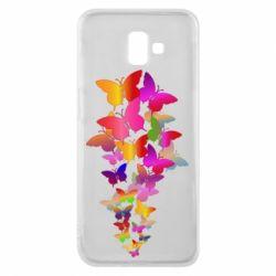 Чохол для Samsung J6 Plus 2018 Rainbow butterflies
