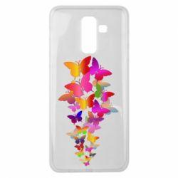 Чохол для Samsung J8 2018 Rainbow butterflies