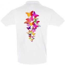Футболка Поло Rainbow butterflies