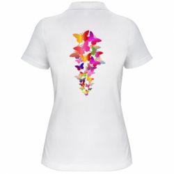 Жіноча футболка поло Rainbow butterflies