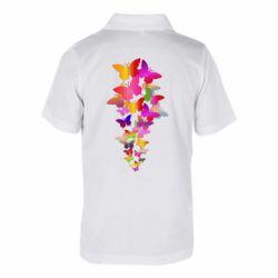 Дитяча футболка поло Rainbow butterflies