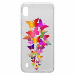 Чохол для Samsung A10 Rainbow butterflies