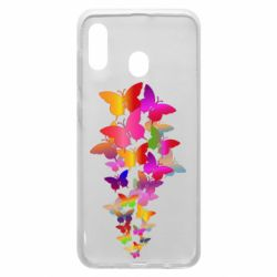 Чохол для Samsung A20 Rainbow butterflies