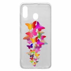 Чохол для Samsung A30 Rainbow butterflies