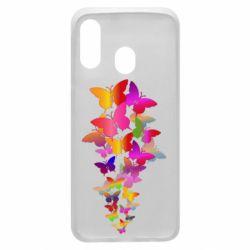 Чохол для Samsung A40 Rainbow butterflies