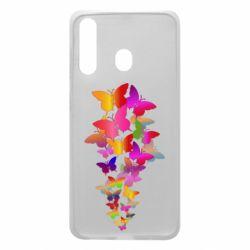 Чохол для Samsung A60 Rainbow butterflies