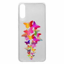 Чохол для Samsung A70 Rainbow butterflies