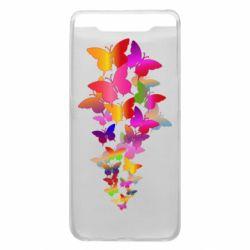 Чохол для Samsung A80 Rainbow butterflies