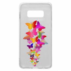Чохол для Samsung S10e Rainbow butterflies