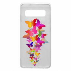 Чохол для Samsung S10 Rainbow butterflies