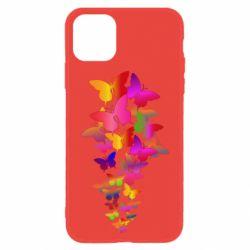 Чохол для iPhone 11 Rainbow butterflies