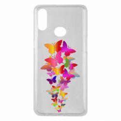 Чохол для Samsung A10s Rainbow butterflies