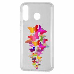 Чохол для Samsung M30 Rainbow butterflies