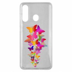 Чохол для Samsung M40 Rainbow butterflies