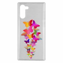Чохол для Samsung Note 10 Rainbow butterflies