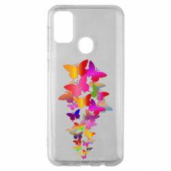 Чохол для Samsung M30s Rainbow butterflies