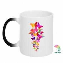 Кружка-хамелеон Rainbow butterflies