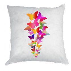 Подушка Rainbow butterflies