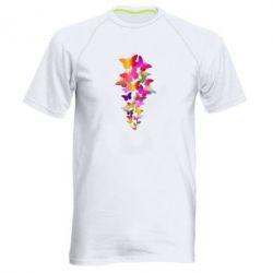 Чоловіча спортивна футболка Rainbow butterflies