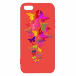 Чохол для iphone 5/5S/SE Rainbow butterflies